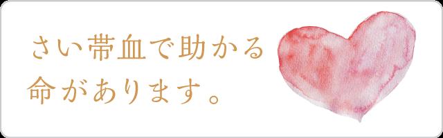 さい帯血で助かる命があります。-臍帯血支援サイト