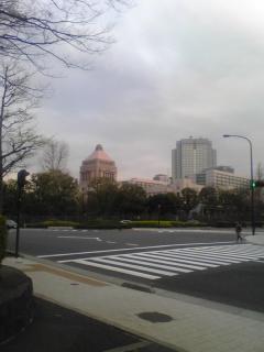 憲政記念館から国会を見る