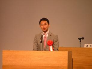 岡山県美容組合の総代会であいさつ