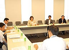 日印原子力協定の締結について議論する党核廃絶推進委