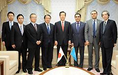ナスル国連総会議長の表敬を受ける